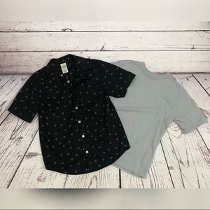 NWOT Boys Faded Glory Skull Button Down w/Tee